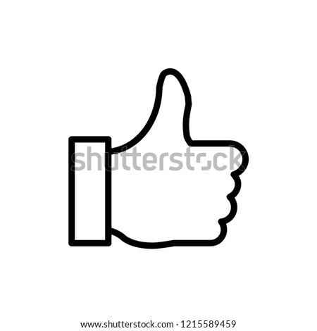 Thumb sign icon vector