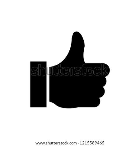 Thumb sign icon vector