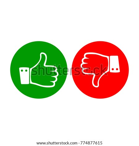 Thumb up and down icon logo
