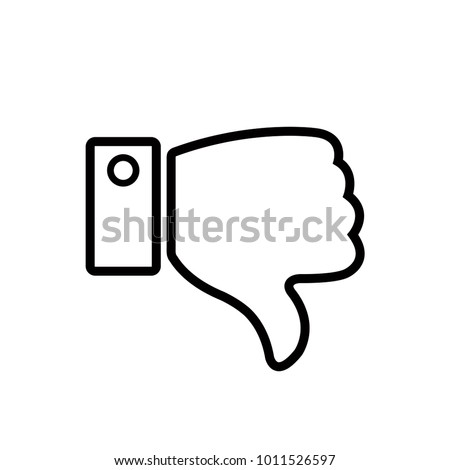 thumb up and down icon vector line art