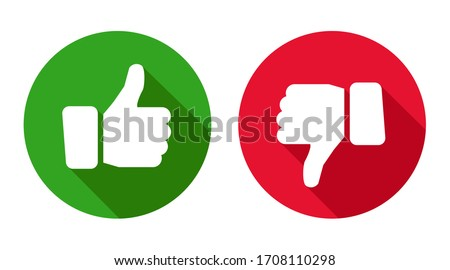 Thumb up and thumb down sign. Up and down index finger sign - stock vector
