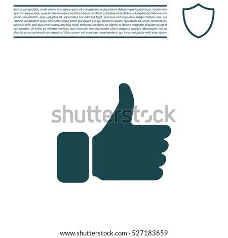 thumb up icon, vector illustration
