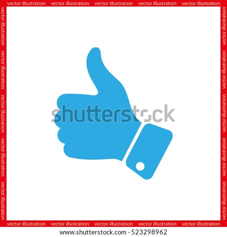 thumb up icon vector illustration eps10. Isolated badge for website or app - stock infographics