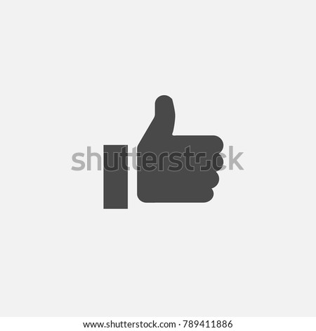 thumb up like button vector icon human hand click for nice or approved use for social media or websites eps10 ストックフォト ©