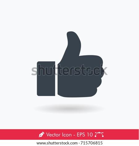 Thumb Up (Like) Icon / Vector
