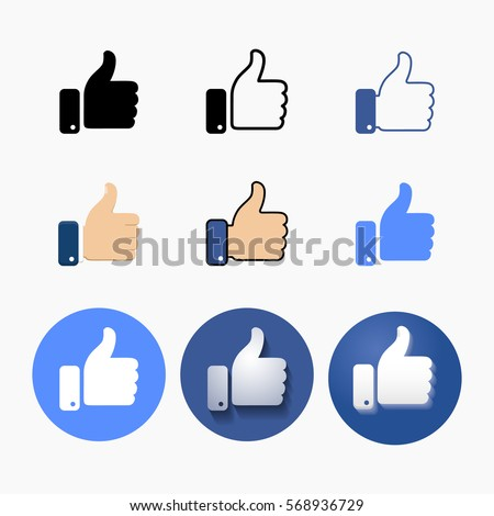 thumb up symbol  different