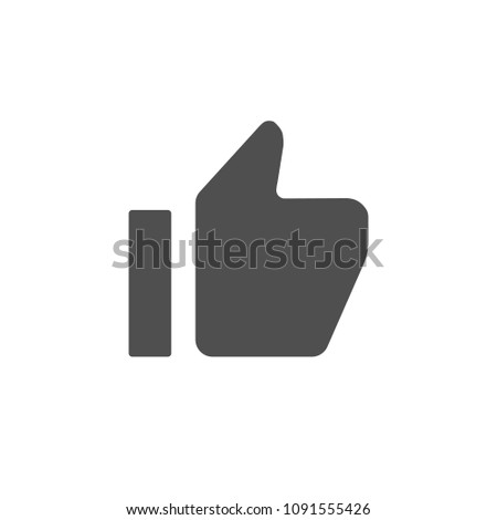 Thumb up symbol social media YouTube. Vector illustration. EPS 10