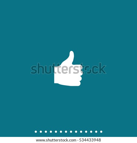 Thumb up vector icon. Ok sign simple flat pictogram.