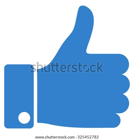 thumb up vector icon style is