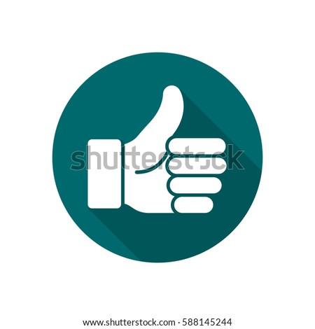 thumb up vector logo icon. like ...