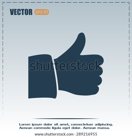 thumb up vector sign okay