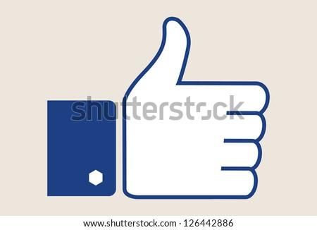 Thumb up - vector symbol