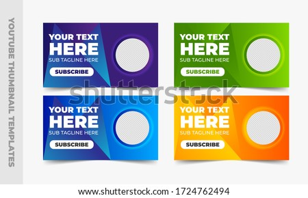 Thumbnail templates design for social media   Foto stock ©