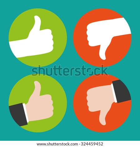foto de Thumbs Up And Thumbs Down Stock Vector Illustration