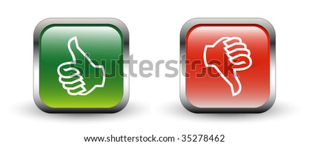 Thumbs Up & Down Sign Icons