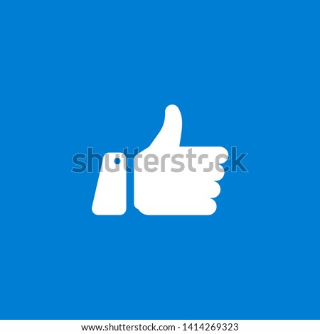 Thumbs up facebook and heart icon on a white background. Vector illustration.