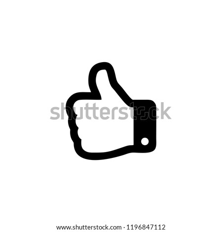 Thumbs up hand outline icon