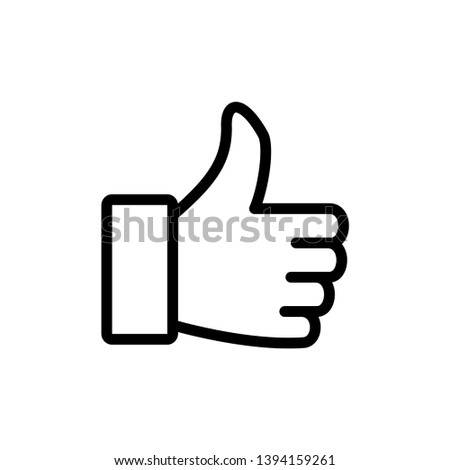 Thumbs up icon design template. Vector EPS 10