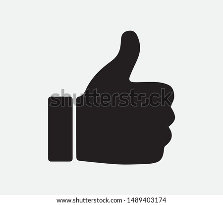 Thumbs Up Icon, Vector Design