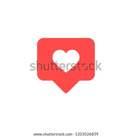 Thumbs up Instagram and heart shape. Like icon. Social media. Vector illustration.