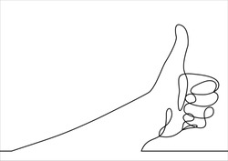 Thumbs up line-continuous line drawing
