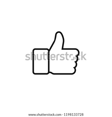 Thumbs up or thumbs down. Vector illustration line icon.