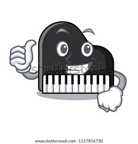 thumbs up piano character