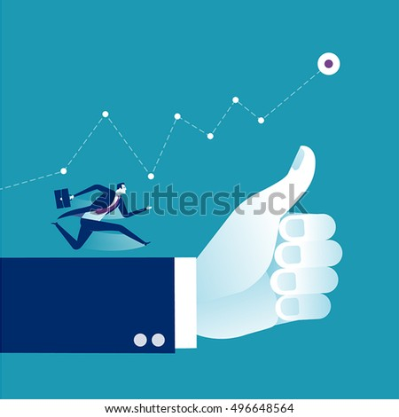Thumbs Up - Success. Business vector concept illustration