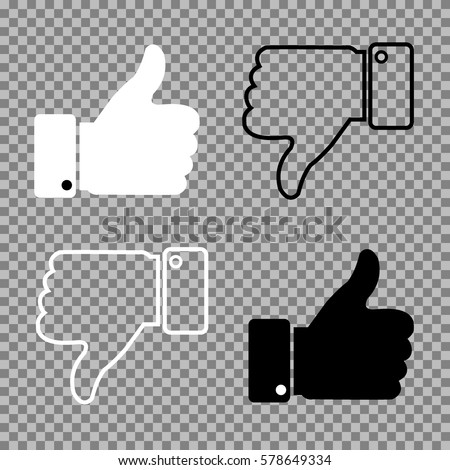 Thumbs up thumbs down on isolated background. Vector illustration