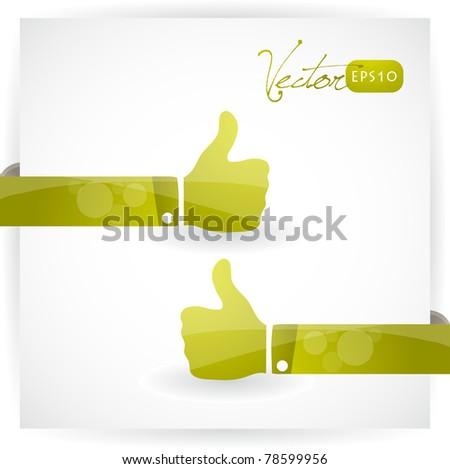Thumbs up, vector EPS10.