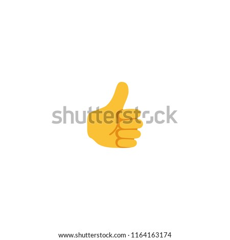 Thumbs Up Vector Flat Icon. Like Finger Sign