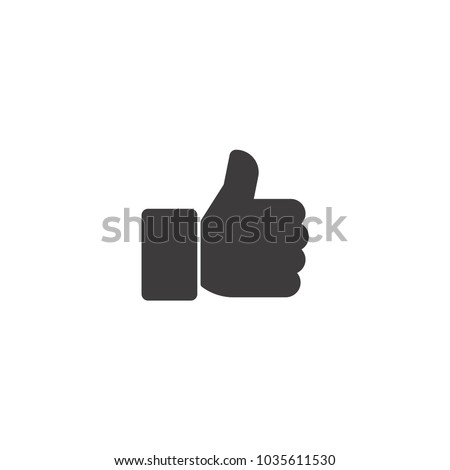 Thumbs up. Vector icon