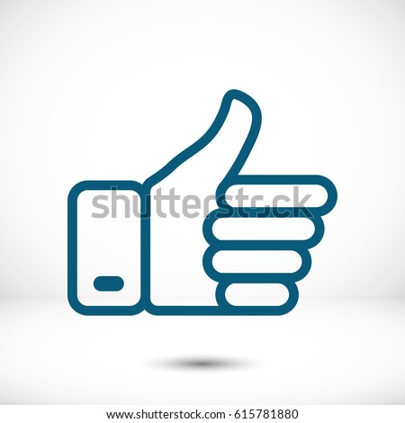 thumbs up vector icon