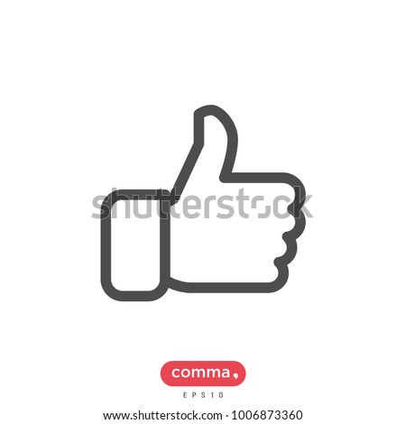 thumbs up vector icon, like symbol