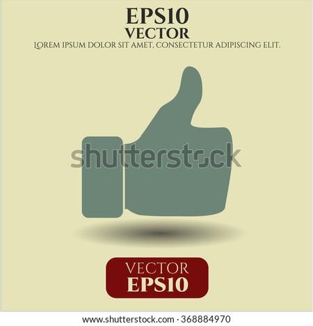 thumbs up vector symbol