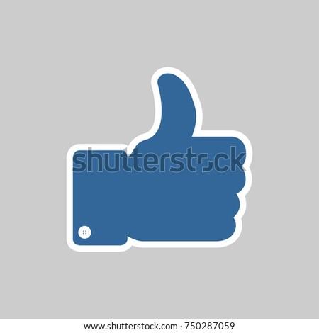Thumbs-Up vektor icon