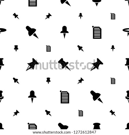 thumbtack icons pattern seamless white background. Included editable filled pin, paper pin icons. thumbtack icons for web and mobile.
