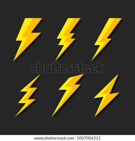 thunder and bolt lighting flash