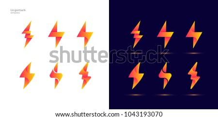 Thunder Bolt Modern Logo Design Template