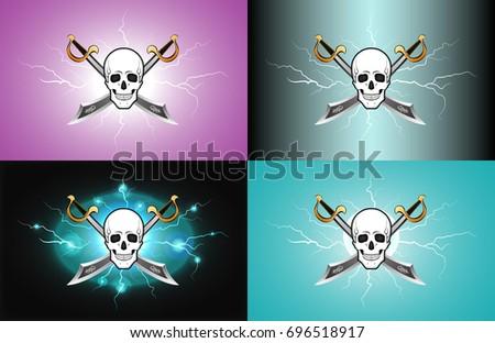 thunder lightning skulls