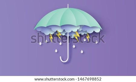 thunder storm on dark cloudy