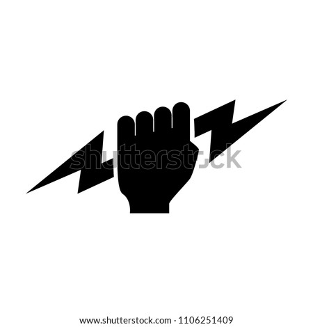 thunder titan hand vector logo