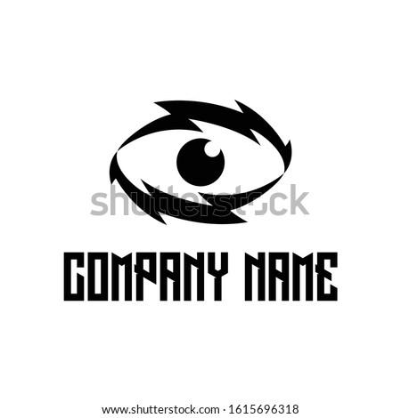 thunders eye vector symbol eye