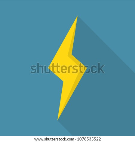 Thunderstorm icon. Flat illustration of thunderstorm vector icon for web