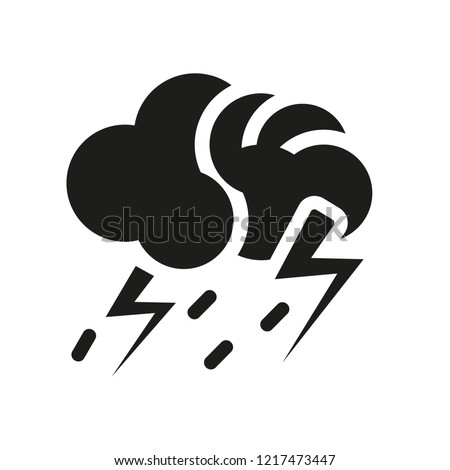 Thunderstorm icon. Trendy Thunderstorm logo concept on white background from Weather collection. Suitable for use on web apps, mobile apps and print media.