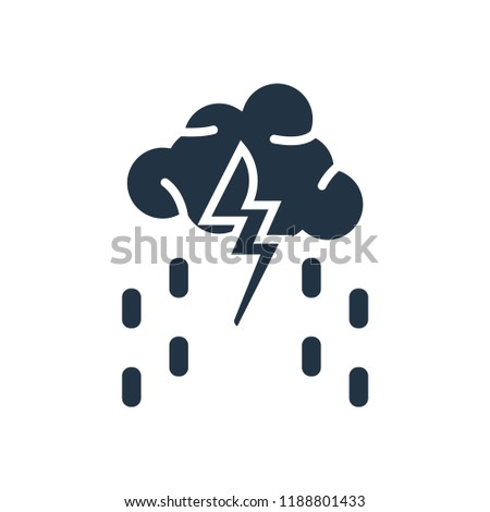 Thunderstorm icon vector isolated on white background for your web and mobile app design, Thunderstorm logo concept