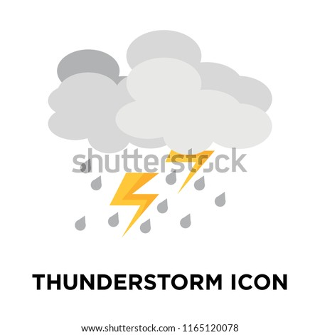 Thunderstorm icon vector isolated on white background, Thunderstorm transparent sign , weather symbols