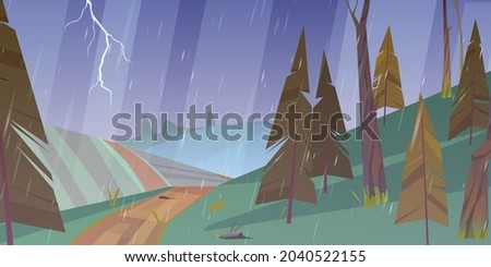 thunderstorm landscape with