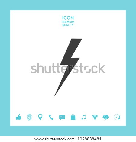 Thunderstorm lightning icon