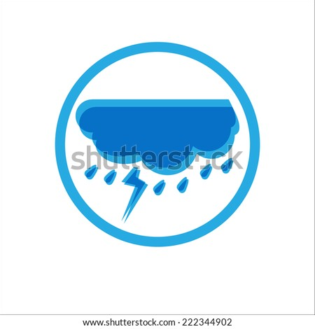 Thunderstorm with Rain icon. Vector Illustration